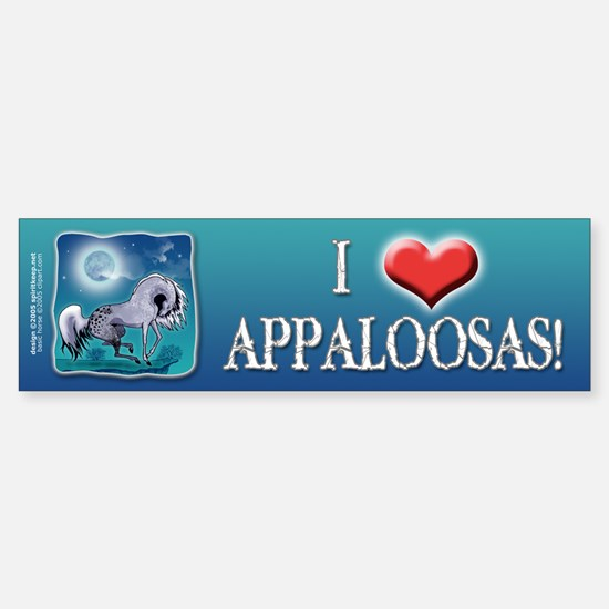 Appaloosa Horse by Moonlight Bumper Bumper Bumper Sticker