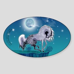 Appaloosa Horse by Moonlight Oval Sticker