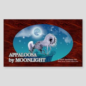 Appaloosa Horse by Moonlight Rectangle Sticker