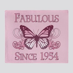 Fabulous Since 1954 Throw Blanket