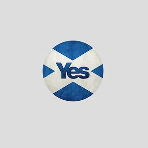 Yes Scotland flag Mini Button