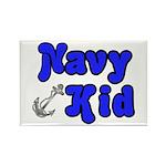 Navy Kid (blue) Rectangle Magnet