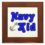 Navy Kid (blue) Framed Tile