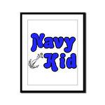 Navy Kid (blue)  Framed Panel Print