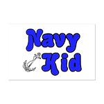 Navy Kid (blue)  Mini Poster Print