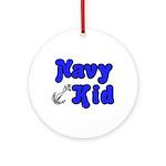 Navy Kid (blue) Ornament (Round)