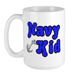 Navy Kid (blue) Large Mug
