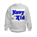 Navy Kid (blue) Kids Sweatshirt