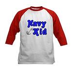Navy Kid (blue) Kids Baseball Jersey