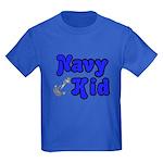 Navy Kid (blue) Kids Dark T-Shirt