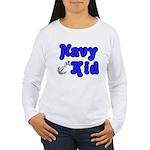 Navy Kid (blue) Women's Long Sleeve T-Shirt