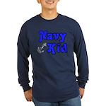 Navy Kid (blue) Long Sleeve Dark T-Shirt