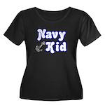 Navy Kid (blue) Women's Plus Size Scoop Neck Dark