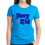Navy Kid (blue) Women's Dark T-Shirt