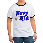 Navy Kid (blue) Ringer T