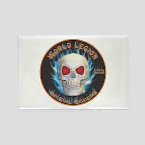 Legion of Evil Coders Rectangle Magnet