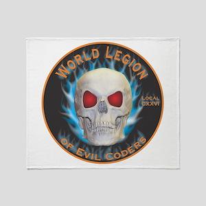 Legion of Evil Coders Throw Blanket
