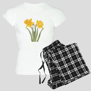Vintage Daffodil Flower, Be Women's Light Pajamas