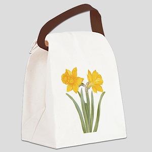 Vintage Daffodil Flower, Besler Canvas Lunch Bag