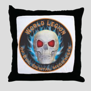 Legion of Evil Dental Hygienists Throw Pillow