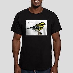 Townsend's Warbler Men's Fitted T-Shirt (dark)