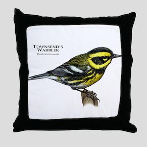 Townsend's Warbler Throw Pillow