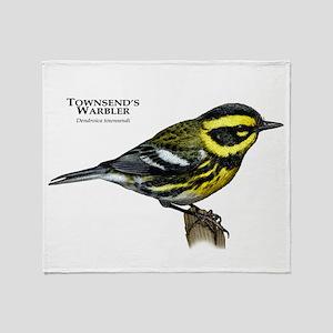 Townsend's Warbler Throw Blanket