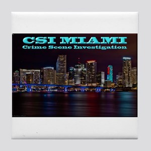 CSI Miami After Dark Tile Coaster