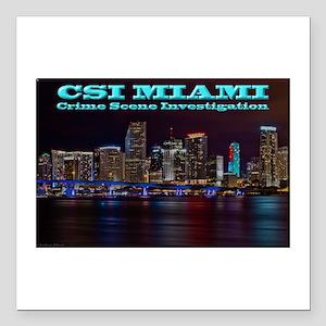 "CSI Miami After Dark Square Car Magnet 3"" x 3"""