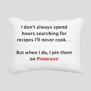 Recipes on Pinterest Rectangular Canvas Pillow