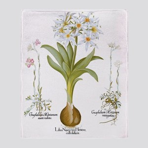 Vintage Flowers by Basilius Besler Throw Blanket
