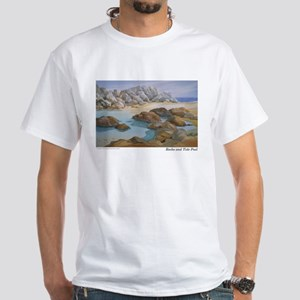 Rocks and Tide Pool White T-Shirt
