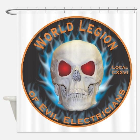 Legion of Evil Electricians Shower Curtain