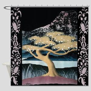 Mount Fuji And Bonsai Tree #1 Shower Curtain