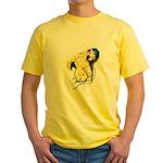 Kitten at Play Yellow T-Shirt