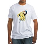 Kitten at Play Fitted T-Shirt
