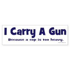 2Nd Amend I Carry A Gun Bumper Sticker