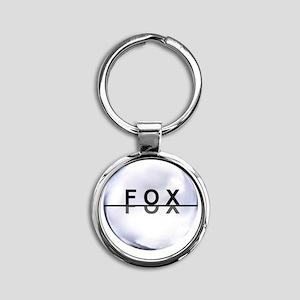 Hey FOX Round Keychain