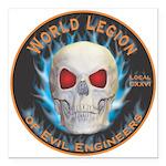 Legion of Evil Engineers Square Car Magnet 3