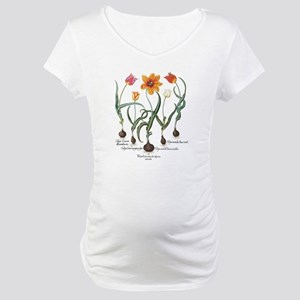 Vintage Tulips by Basilius Besle Maternity T-Shirt
