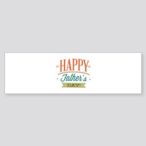 Happy Father's Day Sticker (Bumper)