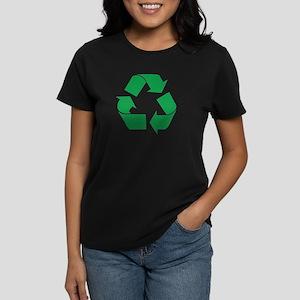Green Recycle Women's Dark T-Shirt