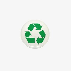 Green Recycle Mini Button