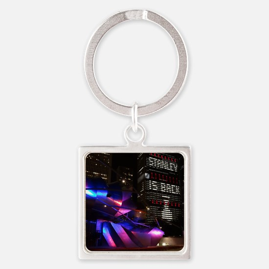 Stanley Cup Skyline 2013 Square Keychain