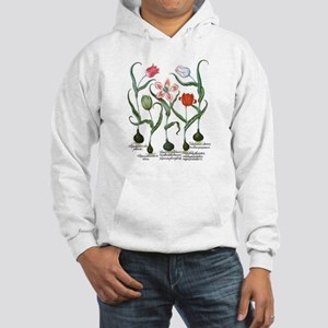 Vintage Tulips by Basilius Besle Hooded Sweatshirt
