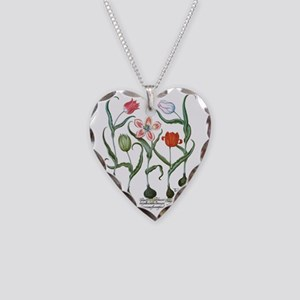Vintage Tulips by Basilius Be Necklace Heart Charm