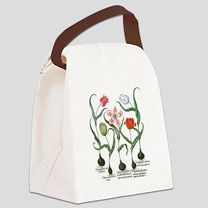 Vintage Tulips by Basilius Besler Canvas Lunch Bag