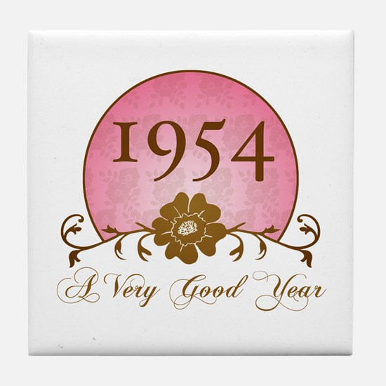 1954 Birthday For Her Tile Coaster