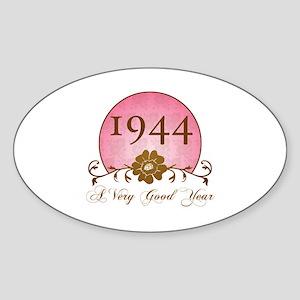 1944 Birthday For Her Sticker (Oval)