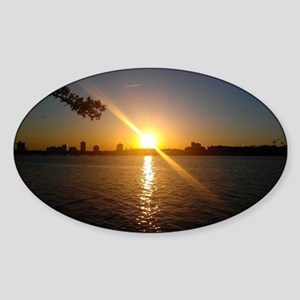 Charles River Sunset Sticker (Oval)